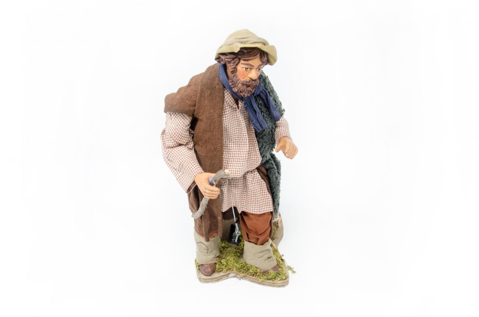 Pastore con bastone movimento 24 cm statue in for Arredamento pastore
