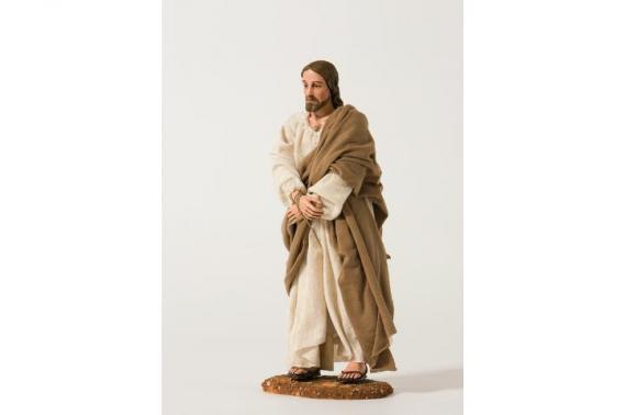 Gesù con Mani Legate - Artistici Vestiti - 30 cm