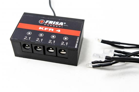 Kit 4 Fuochi Rossi - Centraline + Kit LED