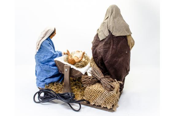 Natività con Madonna Seduta - Movimento - 24 cm