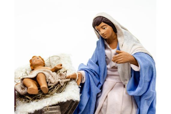 Natività con Madonna Seduta - Movimento - 15 cm