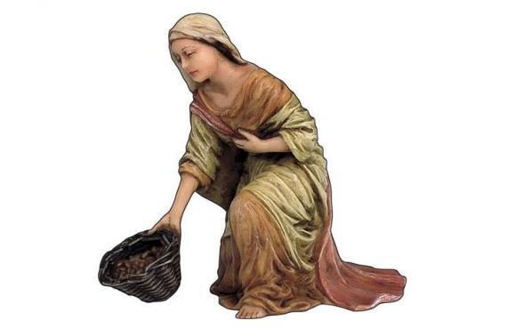 Donna con Cesto - Artistici Fissi - 13 cm