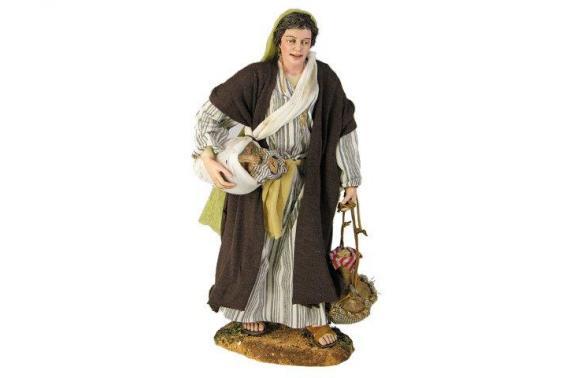 Donna con anfore - Artistici Vestiti Fissi - 30 cm