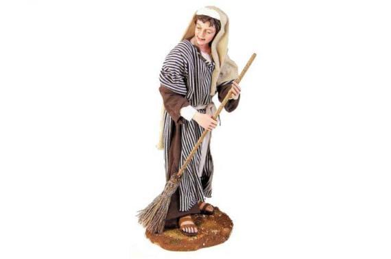 Donna che pulisce - Artistici Vestiti Fissi - 30 cm