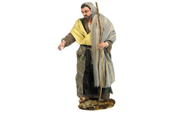 San Giuseppe in Piedi - Artistici Vestiti Fissi - 30 cm