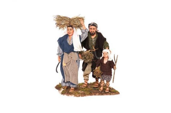 Famiglia Contadina - Artistici Vestiti Fissi - 30 cm