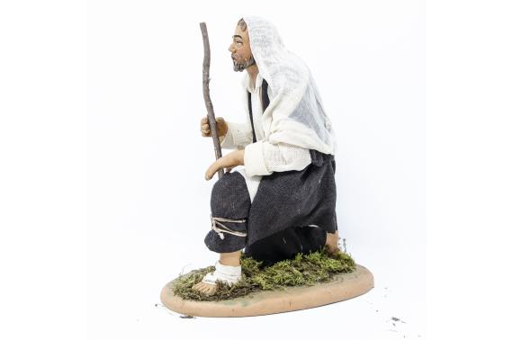 San Giuseppe in Ginocchio - Fisse Vestite - 20 cm