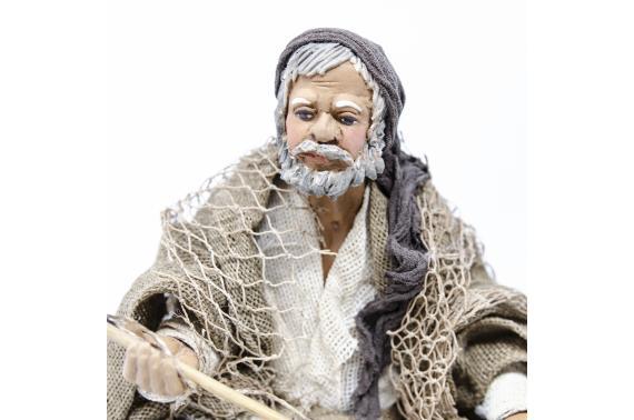 Pescatore su Scoglio - Fisse Vestite - 24 cm