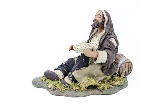 Mendicante con Botte - Fisse Vestite - 24 cm