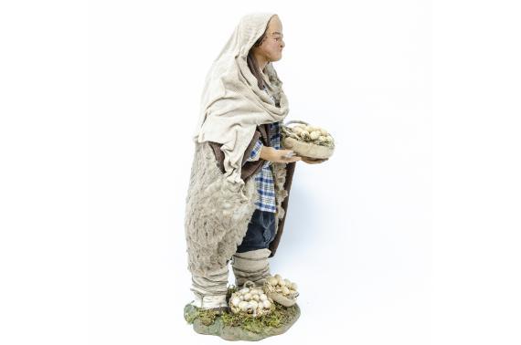 Uomo con Cesto di Uova - Fisse Vestite - 24 cm