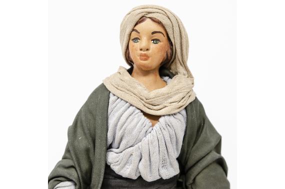Donna con Fanciullo per Mano - Fisse Vestite - 24 cm
