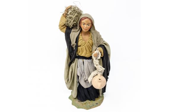 Donna con Paglia e Anfore - Fisse Vestite - 24 cm