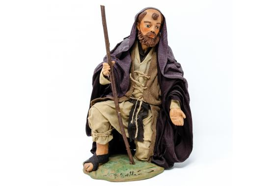 San Giuseppe in Ginocchio - Fisse Vestite - 24 cm