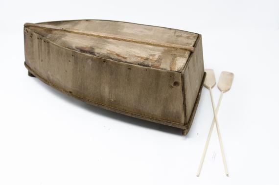 Barche in legno con remi - Acqua, Accessori