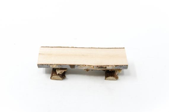 Panca di legno - Paglia, Legna, Sughero, Juta