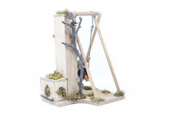 Bimbo su altalena - Movimento - 24 cm