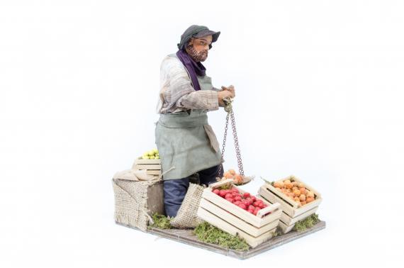 Fruttivendolo con stadera - Movimento - 24 cm