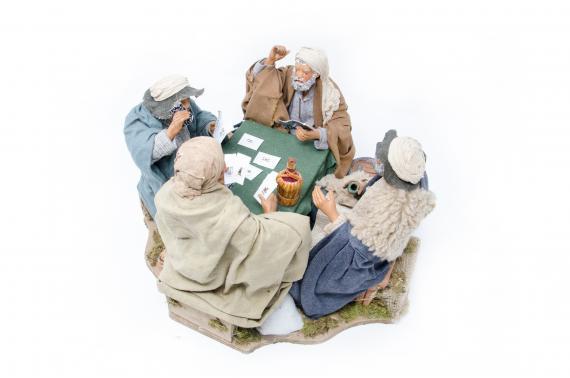 4 Giocatori di Carte - Movimento - 24 cm
