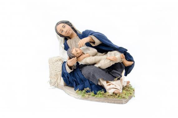 Donna che Accarezza il Bambino - Movimento - 24 cm