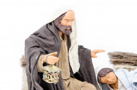 Natività con Madonna Sdraiata - Movimento - 15 cm