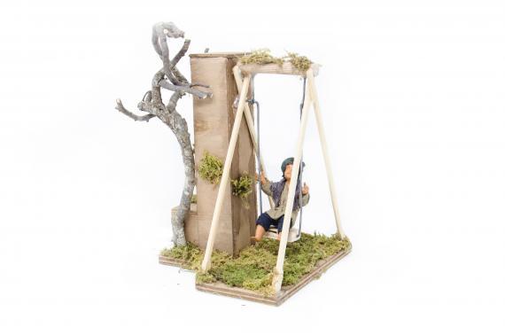 Bimbo su altalena - Movimento - 15 cm