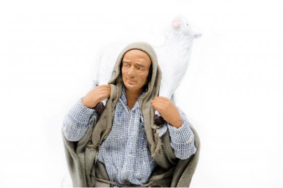Pastore con Agnello - Movimento - 15 cm