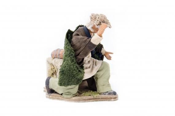 Uomo in Ginocchio con Cappello - Movimento - 15 cm