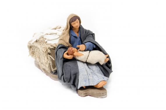 Donna che Accarezza il Bambino - Movimento - 15 cm