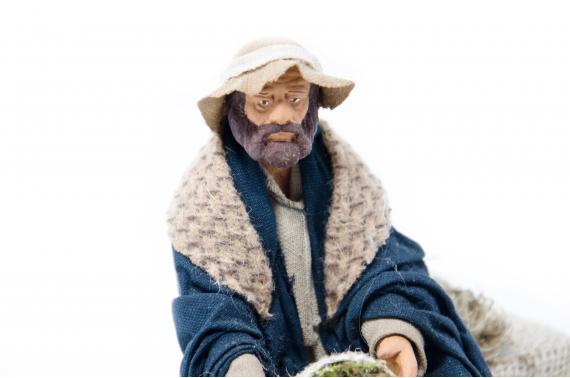 Uomo in Ginocchio con Pecora - Movimento - 15 cm