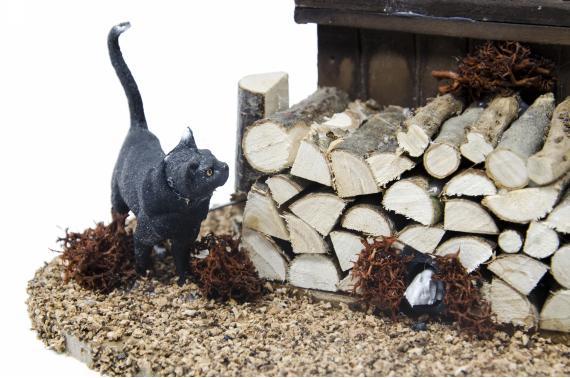 Scenetta gatto con topo - Artigianato in Movimento