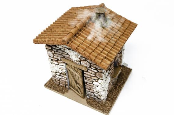Casa in pietra con fumo - Case Presepi e Tende Presepi