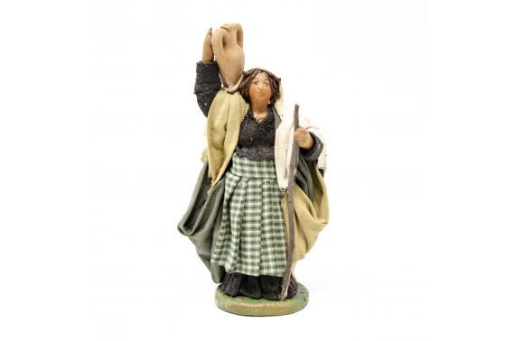 Donna con anfora - Fisse Vestite - 10 cm