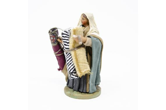 Donna con stoffe - Fisse Vestite - 10 cm