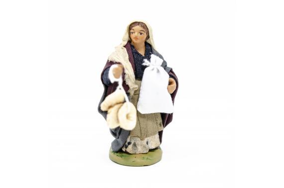 Donna con sacco e pane - Fisse Vestite - 10 cm