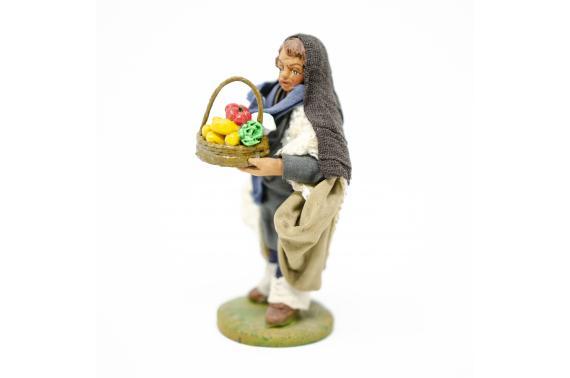 Uomo con cesto di verdura - Fisse Vestite - 10 cm