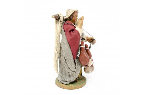 Donna con prosciutti - Fisse Vestite - 10 cm