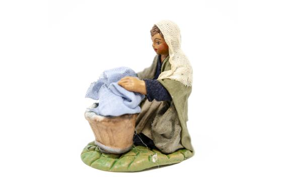 Lavandaia in ginocchio - Fisse Vestite - 10 cm