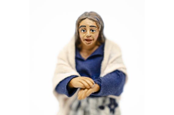 Donna al balcone - Fisse Vestite - 10 cm