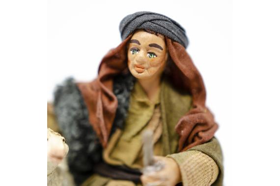 Fanciullo con Agnello sotto Braccio - Fisse Vestite - 10 cm