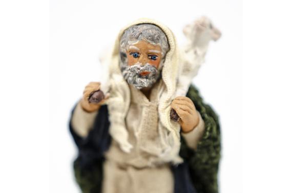 Pastore con Agnello sulle Spalle - Fisse Vestite - 10 cm