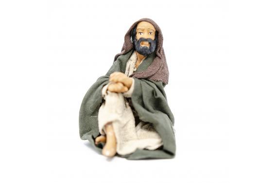Cammelliere seduto - Statue Presepe, Fisse Vestite - 10 cm