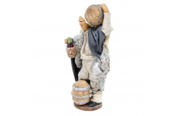 Uomo con Botte in Spalla - Fisse Vestite - 12 cm