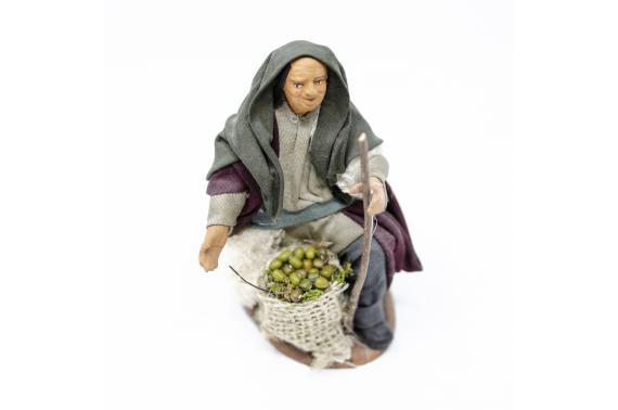 Uomo in Ginocchio con Sacco di Juta - Fisse Vestite - 12 cm