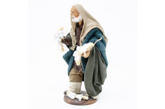 Uomo con Ceppi d'Aglio - Fisse Vestite - 12 cm