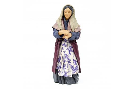 Donna Affacciata al Balcone - Fisse Vestite - 12 cm