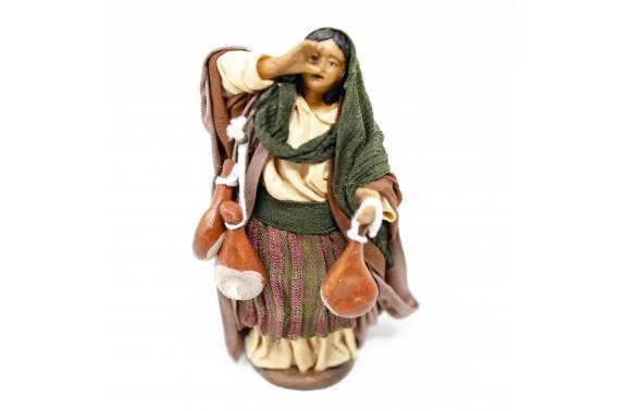 Donna con Prosciutti - Fisse Vestite - 12 cm