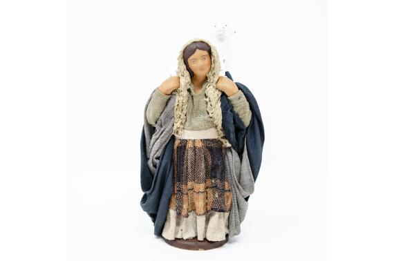 Donna Pecora in Spalla - Fisse Vestite - 12 cm