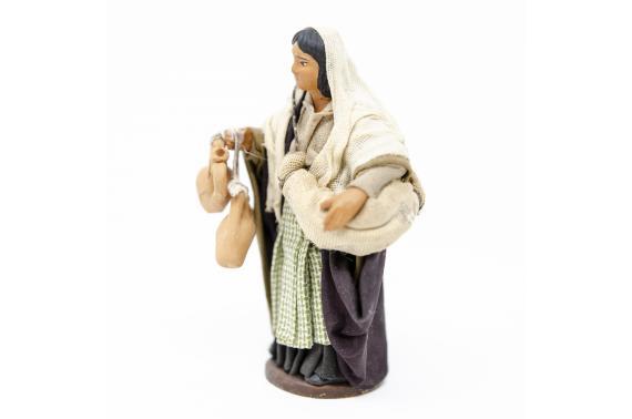 Donna con Bisaccia - Fisse Vestite - 12 cm