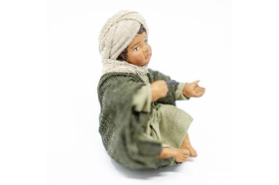 Fanciullo Seduto - Fisse Vestite - 12 cm