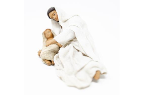 Donna Distesa con Bambino - Fisse Vestite - 12 cm